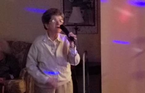 Residents Hit High Notes Singing Karaoke