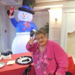 Dessert? Why, I don't mind if I do! Judy shared in the enjoyment of the sweet little treats at our holiday gathering