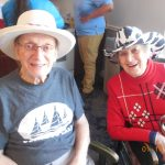 David and Eunice having a blast at the Hat Party!