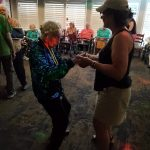 Marcy getting groovy with Nancy